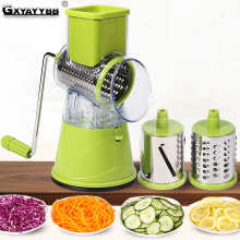 Stainless Steel Vegetable Cutter Manual Slicer Kitchen Gadgets Multi-function Round Mandoline Carrot Potato Accessories