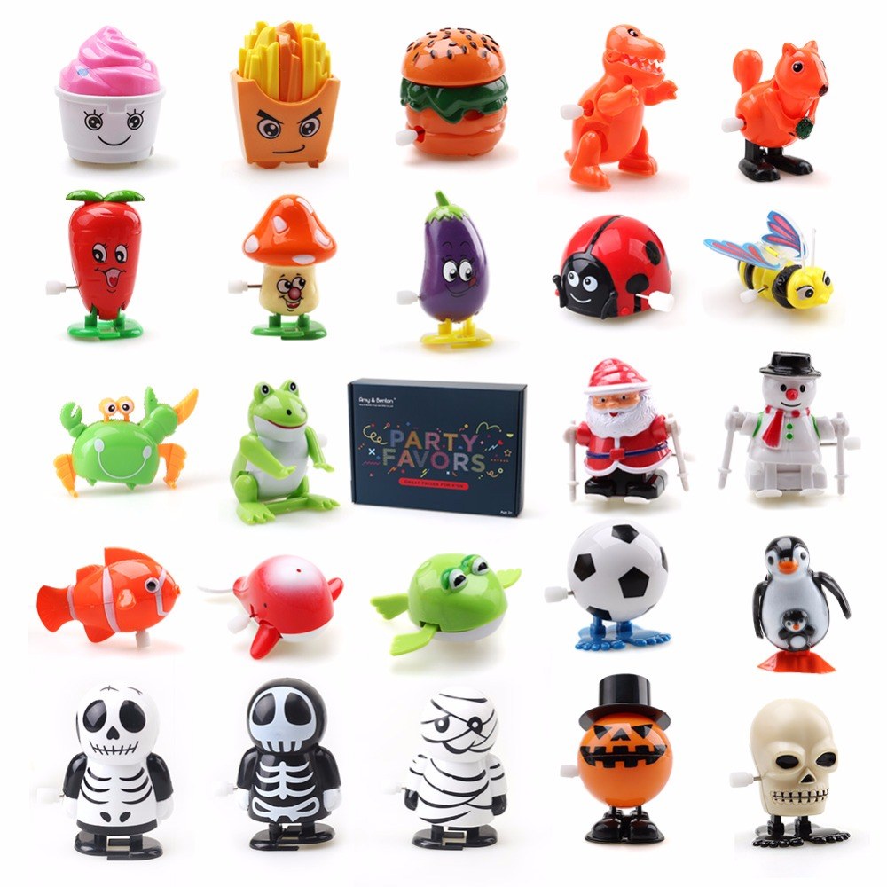ed3c4180a0c 24 PCS Wind Up Toys Clockwork Toy Mini Cartoon Educational Toy for Kids  Birthday Party Favor Assortment by Amy Benton