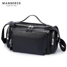 MANBERCE Brand Handbag Genuine Leather Men Shoulder Bags Briefcases Tote Bag Casual Business Men s Messenger