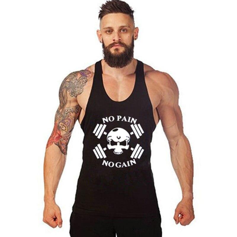 Brand Tank Tops Sleeveless Vest Clothing Men Fitness Shirts Cotton Men Tank Top Workout Bodybuilding Men Tank Top European Size