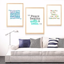 A Smile Motivational Quote Canvas Art Print Painting Poster Wall Pictures For Living Room Home Decorative Decor No Frame