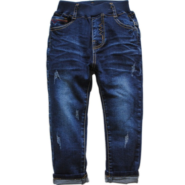 6052 navy blue boys jeans kids casual  denim  pants spring autumn simple fashion  new nice boy trousers  2016