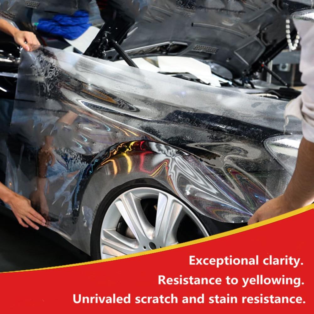 SUNICE Transparenrt Car Wrap Film PPF 3 Layers Car Body Handle Door Anti-scratch Wrapping Film 50cm X 100cm Self Adhesive Film