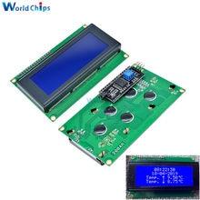 Lcd2004 iic i2c lcd 2004 20x4 caracteres módulos de exibição lcd hd44780 controlador azul backlight tela para arduino lcd