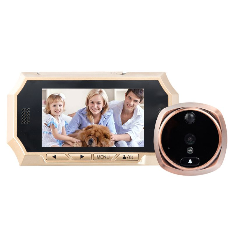 MOOL 4.3-inch TFT LCD digital peep-door camera 160 degrees wide-angle infrared night vision interference-free doorbell securit