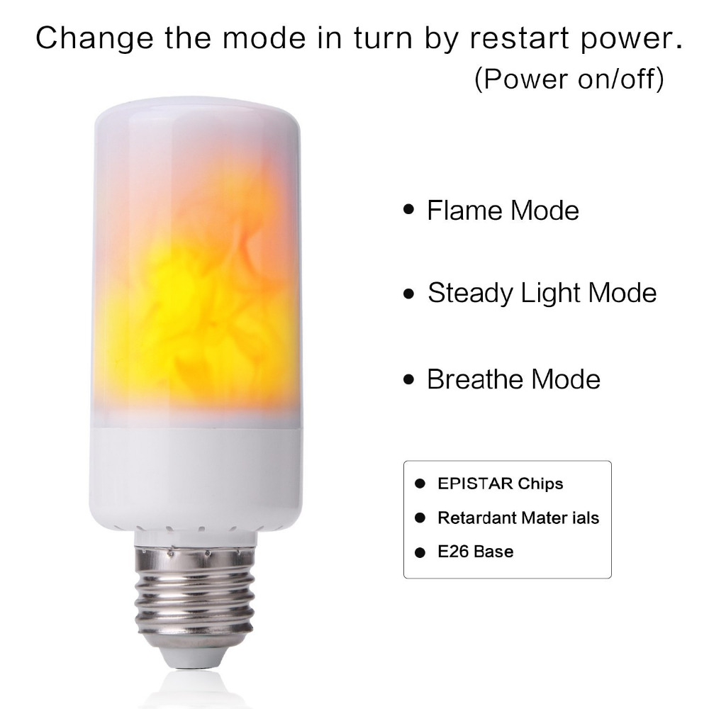 Led Flame Effect Fire Light Bulbs AC85V-265V E27 E26 Simulation flickering decorative lights led flame light fire BB SPEAKER
