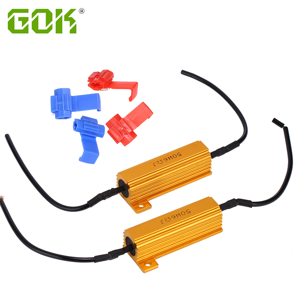 Car Light Accessories Car Lights 10pcs 50w6rj Gold Fuse H8 H11 H4 H7 9006 Load Resistor Wire Canbus Decoder Error Free Canceler Capacitor Auto Car Led Headlight Excellent In Cushion Effect