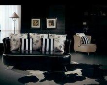 Sofá de la sala moderna 1 2 3 francés diseñador del cuero genuino sofá, 1 + 2 + 3 sofá seccional establecer, silla de dos plazas 8277