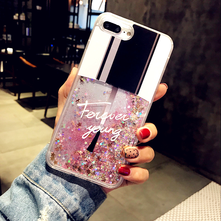 Emiup Fashion Bling Nail Polish Liquid Quicksand Phone Case For Iphone X Cover For Iphone 7 8
