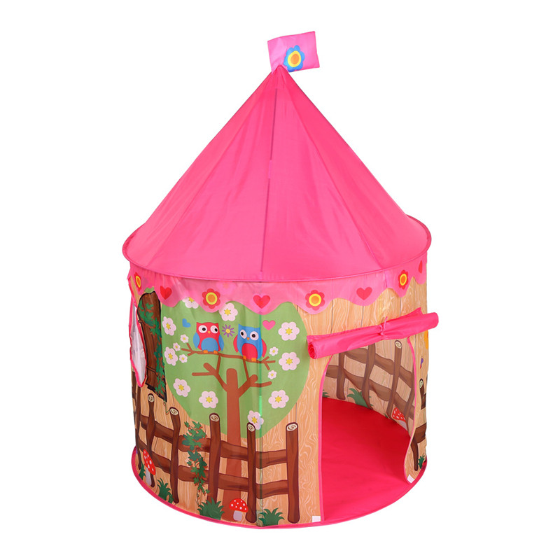 Play Tent Toy Kid Pink Play House Ball Pit Pool Outdoor Indoor Fun Toys Castle Villa Foldable Play Tents Toys For Kids Children