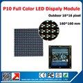 1suqare meter  full color waterproof led board DIP 10mm pixel rgb led display module P10 160*160mm outdoor display cabinet unit