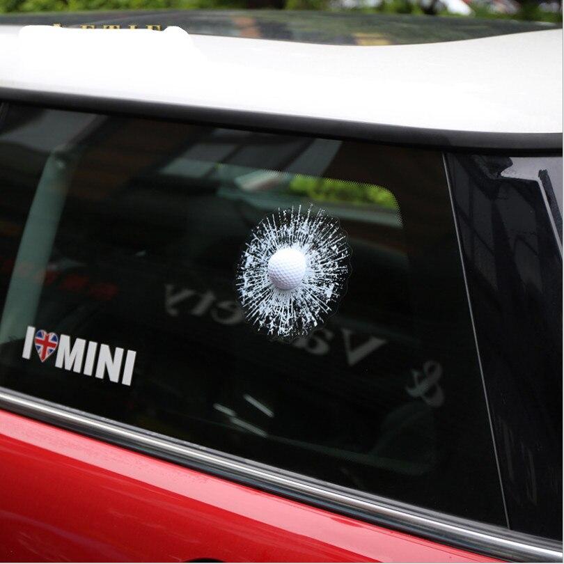 Cool Car Decal Stickers D Golfball Design PVC EVA Auto Truck - Cool car window stickers