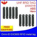 UHF RFID Анти-металлическая метка omni-ID EXO600 915 м 868 МГц Impinj Monza4QT 10 шт. Бесплатная доставка Прочный ABS смарт-карта пассивные RFID метки