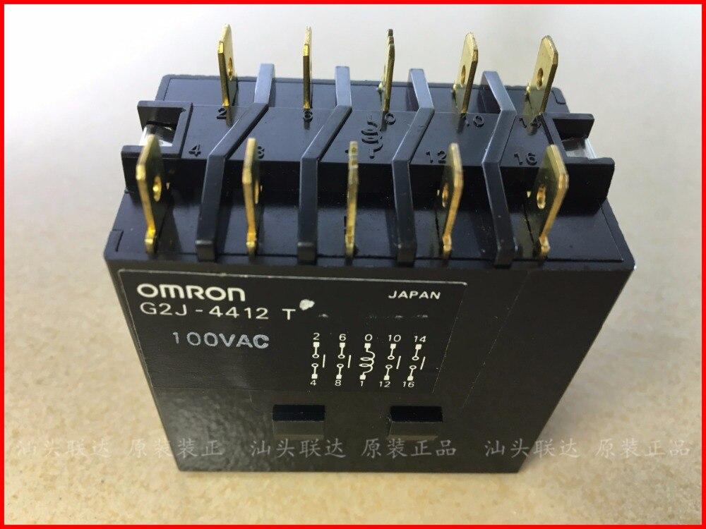 Original new 100% G2J-4412T 100VAC relay AC100V 4NO sbmr 501 100vac