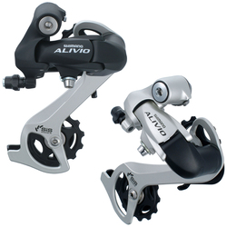 SHIMANO ALIVIO RD M410 7S 8S Speed MTB Bicycle Rear Derailleur Black & Silver