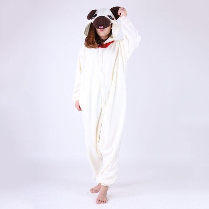 JINUO New 2018 AAA+ Fleece pug dog pijama design pyjama pajamas costume hooded adult baby onesie