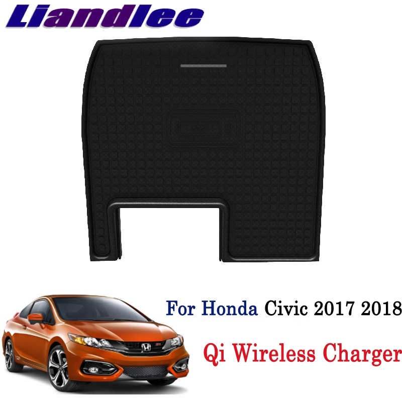 Qi Wireless Charger For Honda Civic 2017 2018 Phone Holder Wireless Charging Smart Wireless Charger Original Car Glove Box