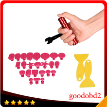 24pcs/set  Dent Removal Glue Tabs Dent Repair Tool T-Bar Dent Lifter Paintless Dent Remover Tools Hand Tool Set PDR Tool Kit
