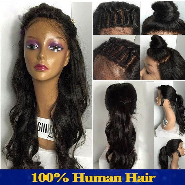 Silk Top Full Lace Wigs Human Hair Brazilian With Baby Hair Virgin ...