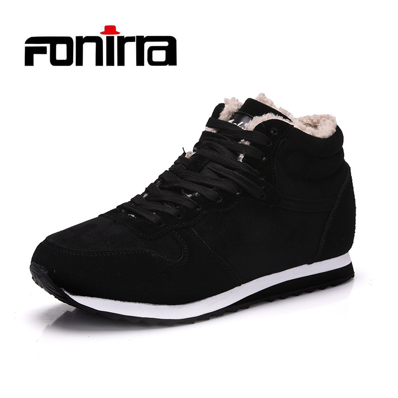 FONIRRA New Fashion Men Snow Boots Work Shoes Outdoor lover Winter shoes Super Warm Man Shoes Big Size 36-48 For Men 733