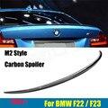 M2 Estilo Para BMW Série 2 F22 F23 F87 M2 De Fibra De Carbono Tronco Spoiler traseiro 220i M235i 228i 218i 225d 2014 2015 2016-UP