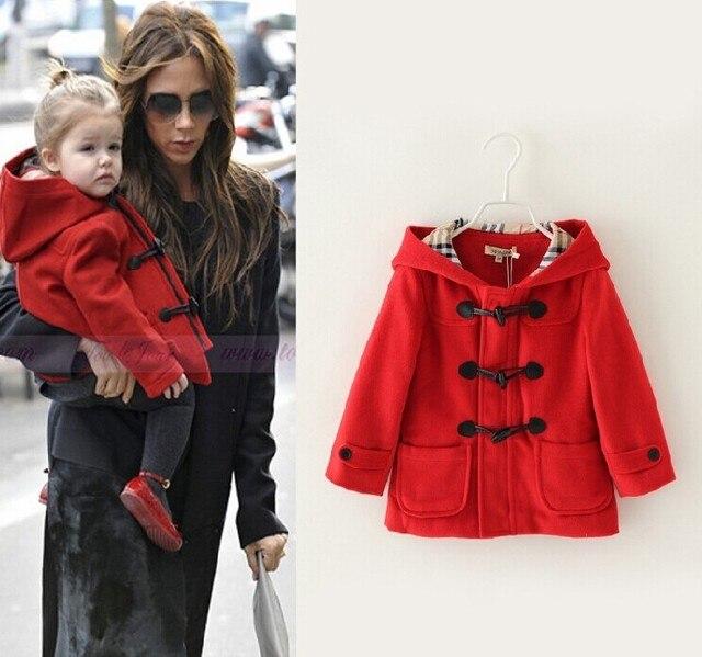 44c5c0110178 New Brand Celebrity Children Outerwear Fashion Baby Girls Wool ...