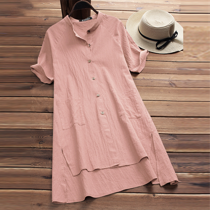 2018 Summer Sexy Party Mini Vestido Women Casual Solid Short Sleeve Loose Split Baggy Long Blouse Irregular Top Shirts Plus Size