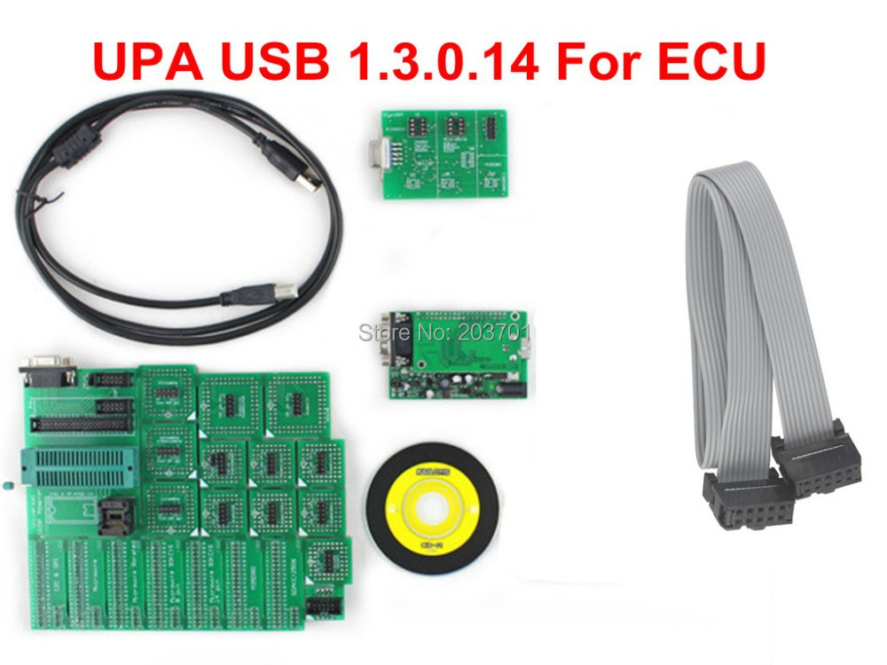wholesale  green upa usb 1.3 .0.14 uusp upa usb  with full adapters upa serial programmer upa usb programmer 1.3 Quality A+ the best quality update version super upa usb programmer with full adapters hot selling