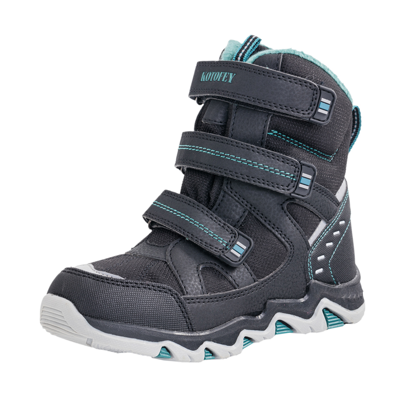 2018 enfants bottes russe garçon neige bottes laine hiver chaussures imperméable à l'eau Ski-preuve épaissi chaud enfants bottes de Ski bottes 31-37