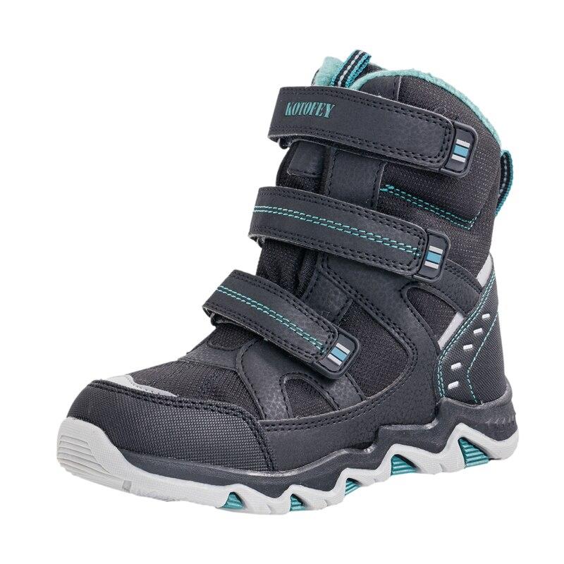 100% QualitäT 2018 Kinder Stiefel Russische Junge Schnee Stiefel Wolle Winter Schuhe Wasserdichte Ski-beweis Verdickt Warme Kinder Stiefel Ski Stiefel 31-37 Elegant Und Anmutig