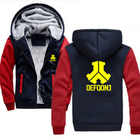 Defqon Hoodie Men Camouflage Printing Flannel Hip Hop Sweatshirt Fashion Mens Hoodies Brand Autumn Cotton Pullover Male Hoody