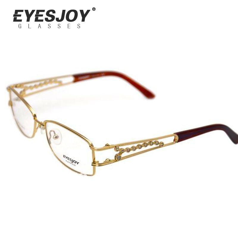 Name brand eyeglasses Eyesjoy EJ1143 Gold Ladies ...