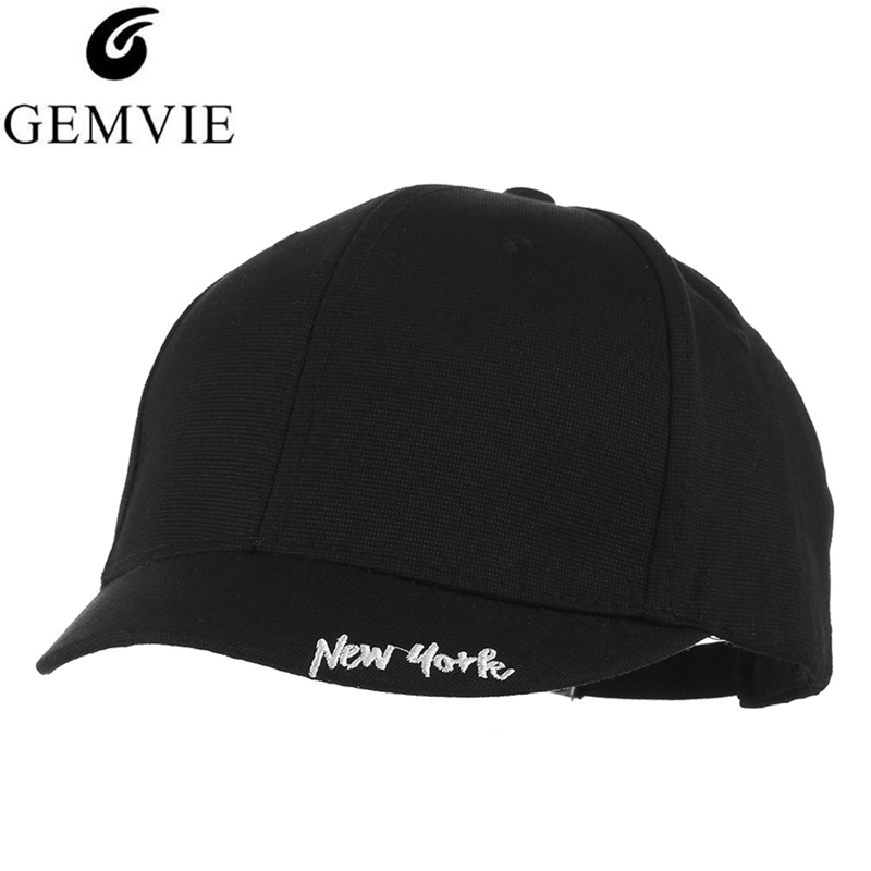 GEMVIE Embroidery New york   Baseball     Cap   For Men Women Short Brim Snapback Unisex Outdoor Sport Visor   Caps   Adjustable Dad hat