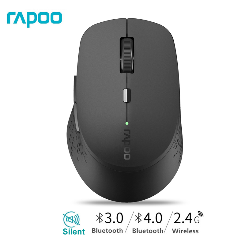 New Rapoo M300 Multi-mode Silent Wireless Mouse With 1600DPI Bluetooth 3.0/4.0 RF 2.4GHz For Three Devices Connection/Girl Mice