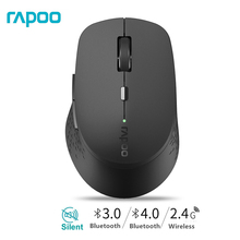 Rapoo M300 Multi-Mode Silent Wireless Mouse with Bluetooth 3.0/4.0 RF 2.4GHz for 3 Devices Connection Laptop Smart-Phone