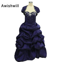 安いボールガウン甘い16女の子quinceaneraのドレス取り外し可能なスカート付きボレロタフタquinceaneraの15年vestidosデ15 anos