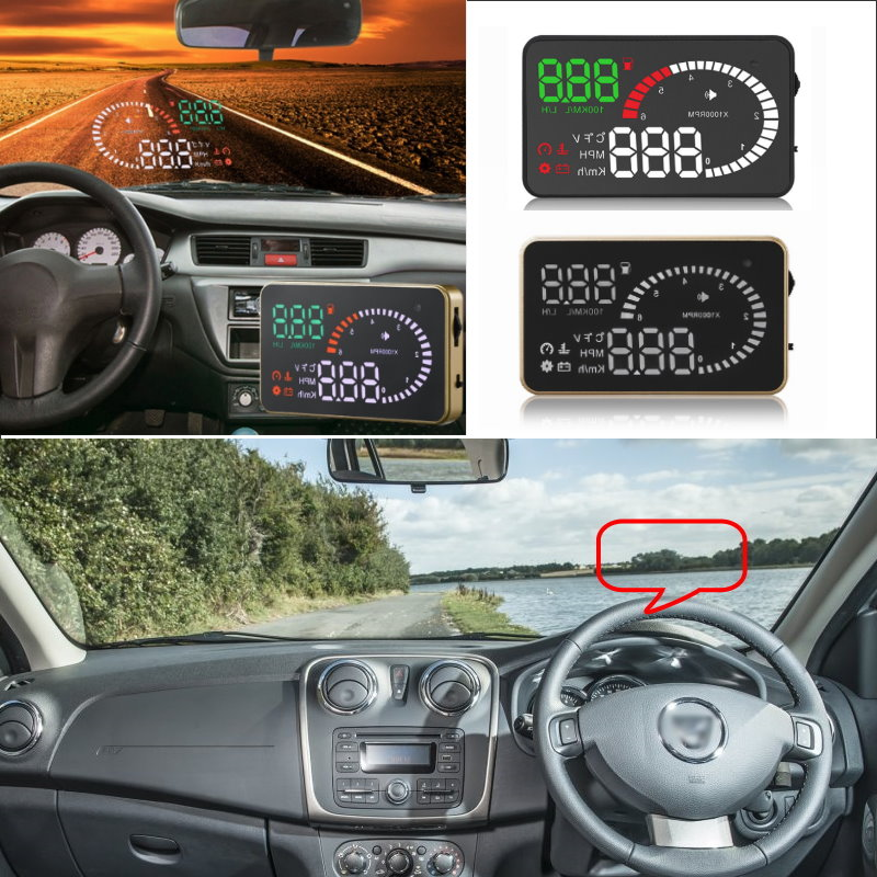 Liislee Car HUD Head Up Display For Dacia Duster Logan Lodgy Sandero Dokker Logan 2 - Safe Screen Projector / OBD II Connector car styling gas brake pedal case for dacia sandero stepway dokker logan duster lodgy metal alloy skid proof rubbers