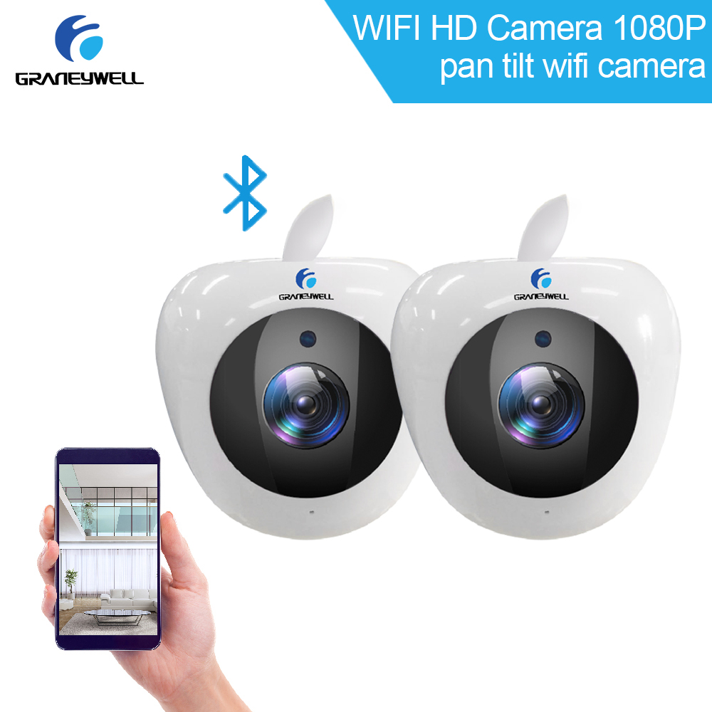 Из 2 предметов GRANEYWELL Беспроводной IP Камера Видеоняни и радионяни Bluetooth WI-FI P2P обнаружения движения ночного Vison Безопасности Камеры скрытого в...