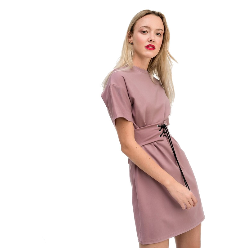 Dresses dress befree for female  half sleeve women clothes apparel  casual spring 1811344566-90 TmallFS tie sleeve choker dress
