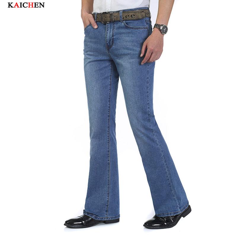 High Quality New Men 39 S Jeans Slim Bell Bottom Bootcut
