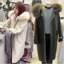 2016 autumn/winter jacket, fashionable women temperament han edition more loose hooded cultivate one's morality wool fabric Coat