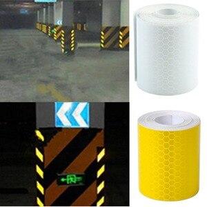 Image 2 - 1Pc Colorful Argento Bianco Riflettente di Sicurezza di Avvertimento Conspicuity Tape Autoadesivo della Pellicola