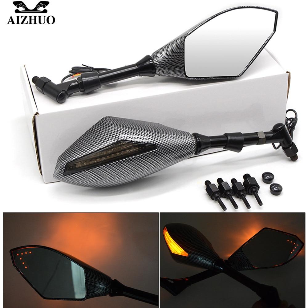 Rétroviseur latéral de moto avec clignotants feux de LED pour HONDA CB599 CBR600 CBR900 CBR919 CBR650F CBR 600 F2 F3