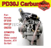 Free shipping Carburetor 30mm PD30J Model For 250cc water cooled Scooter ATV Go Kart for CFMOTO 172MM CF250 CH250 CN250