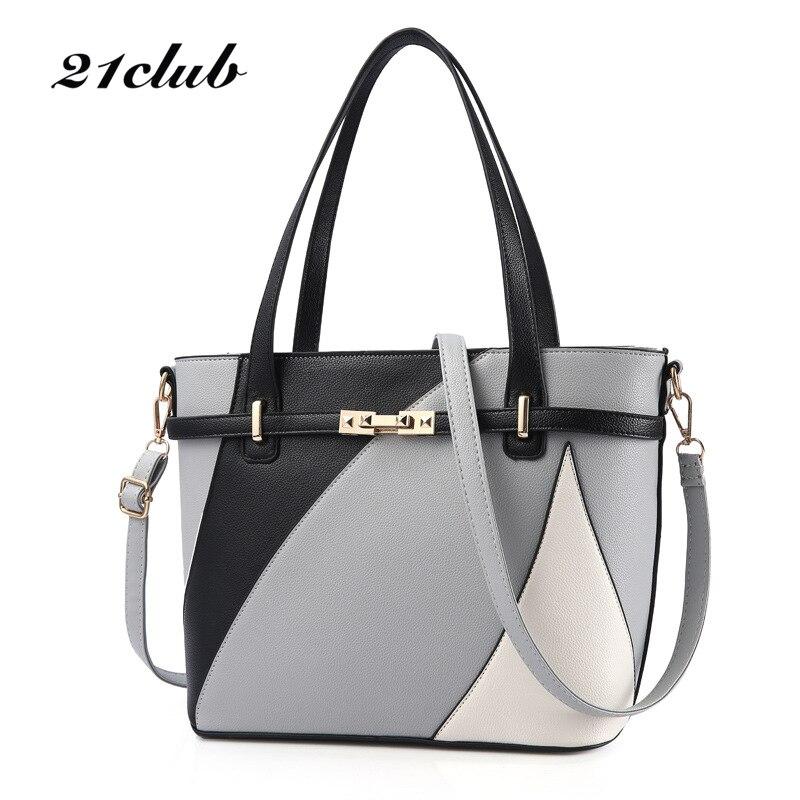 купить 21club brand women casual totes zipper single medium handbag hotsale lady party purse new shoulder messenger crossbody bags онлайн