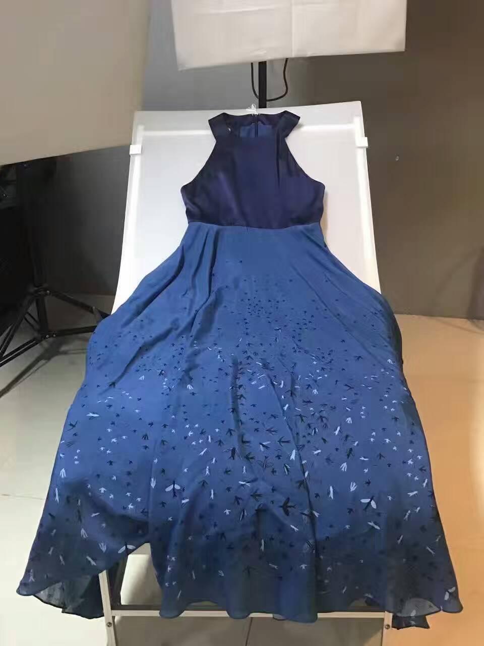 Urlaub Vevestidos Kleid Maxi 100Seide Elegante Print High Kleid Abendgesellschaft SommerkleidSexy Kleider Langes Fiesta End Qsrdht