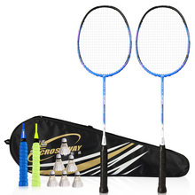 racquet badminton 2018 Light Weight Badminton Racquet 28LBS Sports Badminton Racket 100%carbon badminton racket with bag(China)