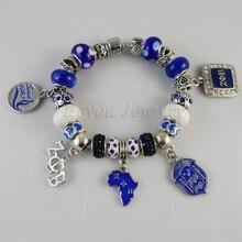 2015 date ZETA PHI BETA Sorority Bracelet ZPB charm perles Bracelet