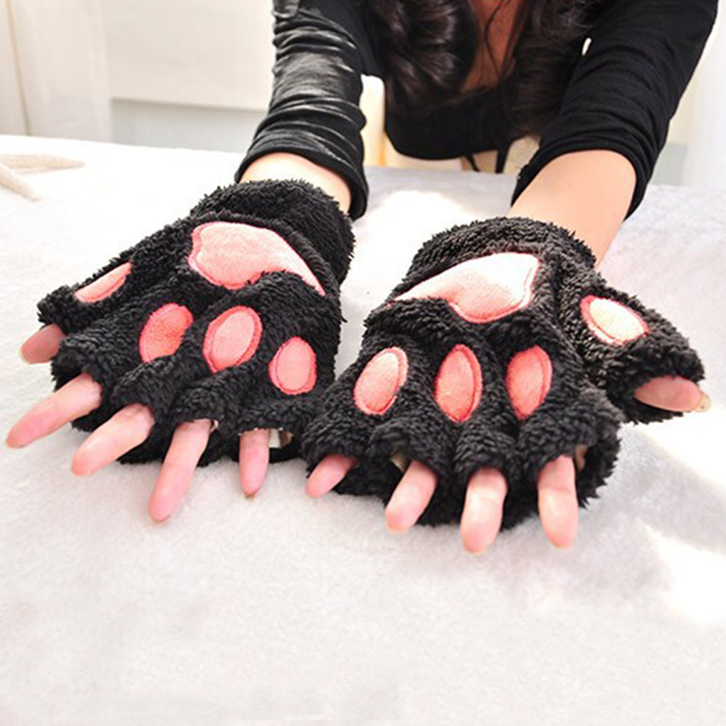 4 Colors Couple Lovers Winter Gloves Wom