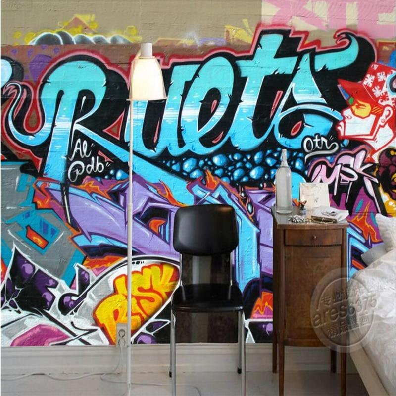 pared de ladrillo pintada de beibehang papel de parede d mural wallpaper para paredes d